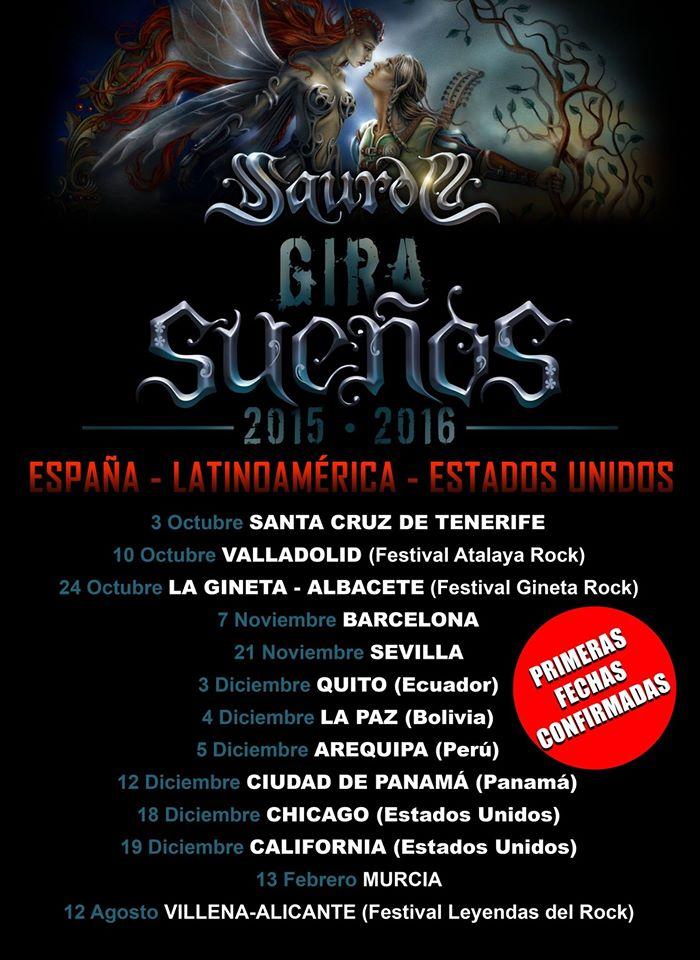 """Saurom presenta las Primeras fechas de su gira """"Sueños"""""""