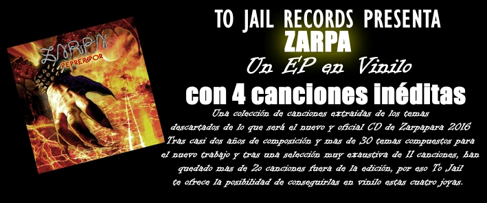 "El sello To Jail Records publicará en exclusiva ""Depredador"" el nuevo EP de ZARPA"