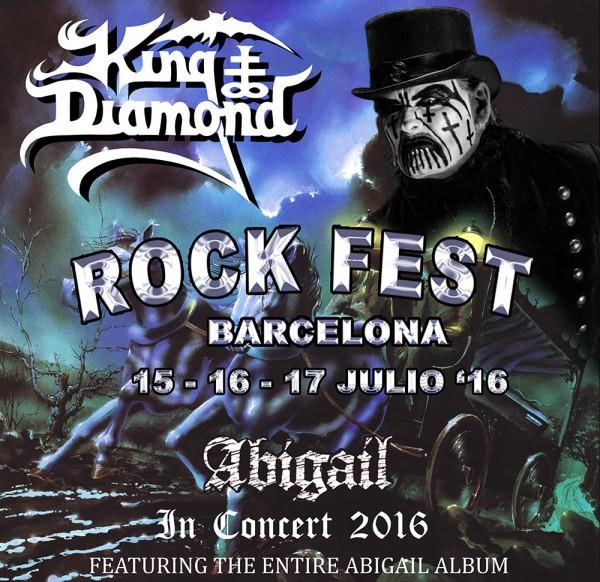 KING DIAMOND encabezará el ROCK FEST BARCELONA el Viernes 15 de Julio
