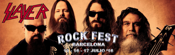 SLAYER se une al cartel del ROCK FEST BARCELONA 2016